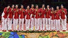 [排球]里约奥运会女子排球决赛 颁奖仪式