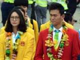 [综合]内地奥运精英代表团抵达香港开启访问之旅