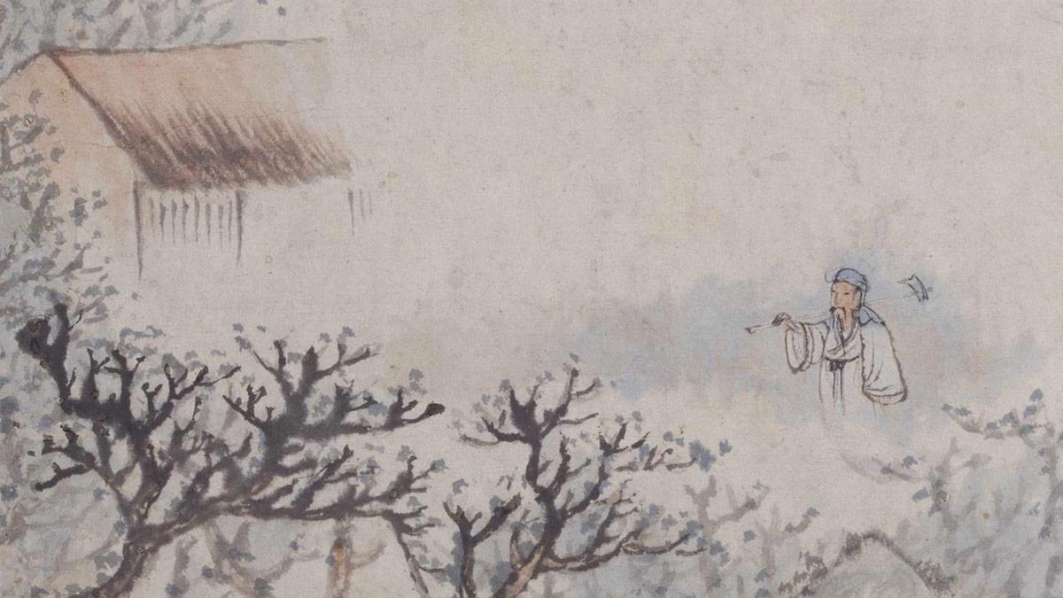 【央视画廊】传世墨迹——石涛《陶渊明诗意图册》