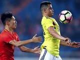 [国足]中国之队友谊赛:中国0-4哥伦比亚 集锦