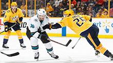 [NHL]常规赛:圣何塞鲨鱼VS纳什维尔掠夺者 比赛集锦