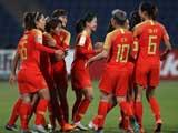 [女足]亚洲杯小组赛:约旦1-8中国 比赛集锦