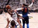 [NBA]米切尔空中对抗亚当斯 拉杆上篮扩大领先