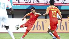 [亚运会]男足1/8决赛:中国3-4沙特 比赛集锦