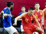 [国足]国际足球友谊赛:中国VS印度 上半场