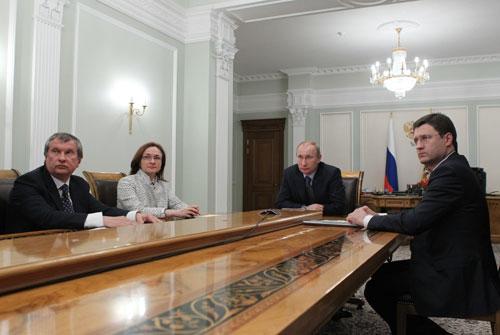 Президент РФ провел видеоконференцию в Ново-Огарево