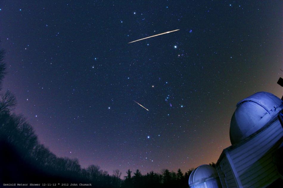 双子座流星雨夜空绽放:每小时120颗