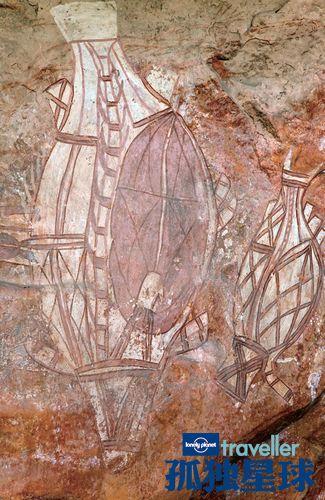卡卡杜南古鲁沃的原住民石画艺术