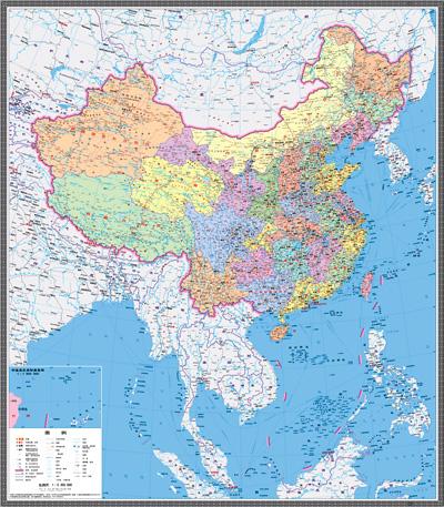 新版中国地图发布:南海诸岛与大陆首次同比例展示