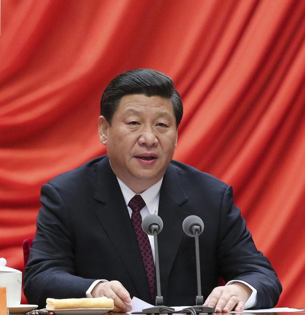 1月22日,中共中央总书记、中共中央军委主席习近平在中国共产党第十八届中央纪律检查委员会第二次全体会议上发表重要讲话。新华社记者丁林 摄