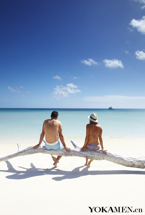 圣灵群岛白天堂海滩