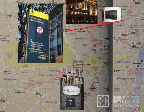 伦敦购物地图