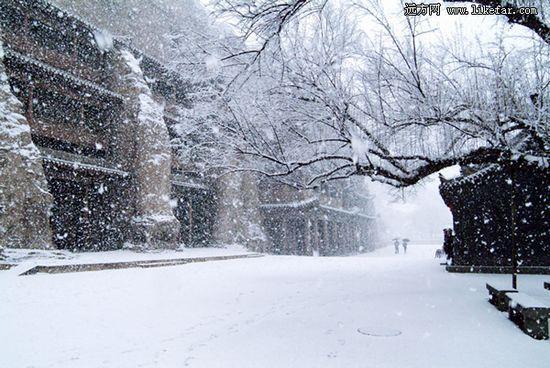 雪中的窟檐 作者:佚名