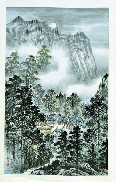 巴山秋月(现代) 吴一峰