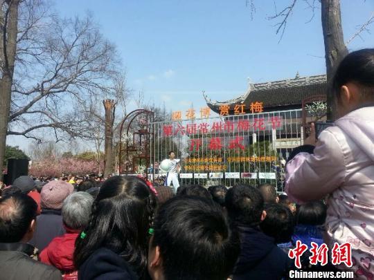 常州2013年花市活动首秀第六届梅花节开幕