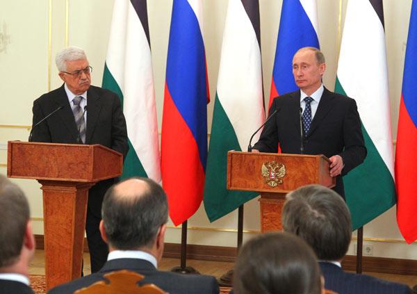 В.Путин провел встречу с президентом Палестины М.Аббасом