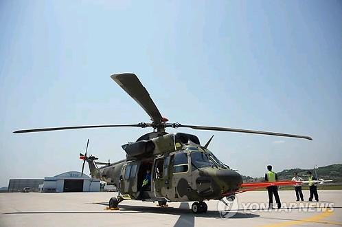 """资料图片:韩国型机动直升机""""Surion""""(KUH)(韩联社)"""