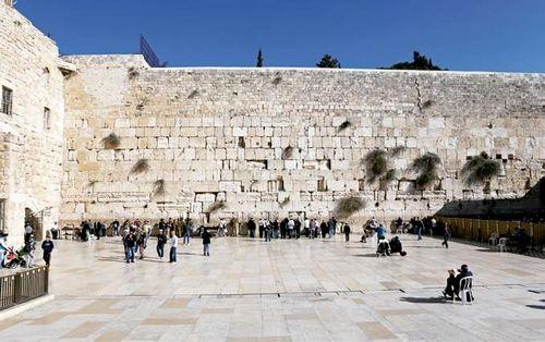 """著名的""""哭墙"""",是犹太人最神圣的祈祷地方 摄影/周齐"""