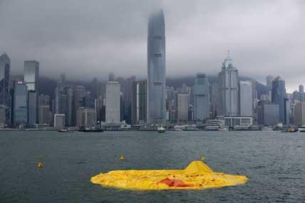 大黄鸭变鸭皮(图片来源:网络)