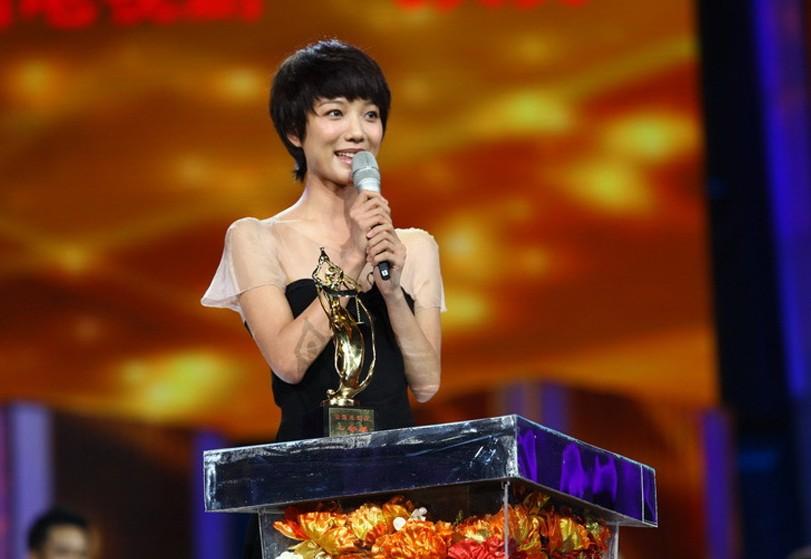 《我的青春谁做主》获长篇电视剧一等奖王珞丹代表发言