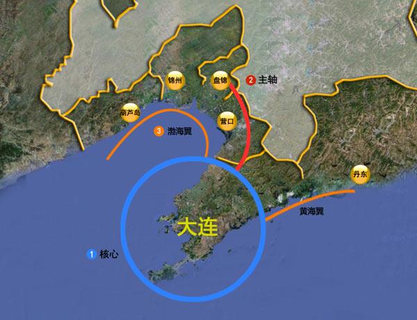大连在中国地图图片