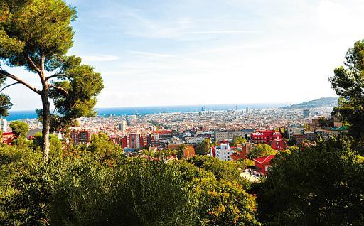 俯瞰巴塞罗那