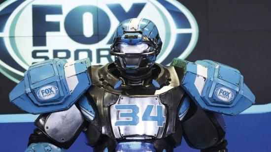FOX喜欢用这个机器人形象来推广自己的转播赛事