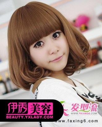 齐刘海短发梨花头-甜美齐刘海发型 减龄修颜好帮手