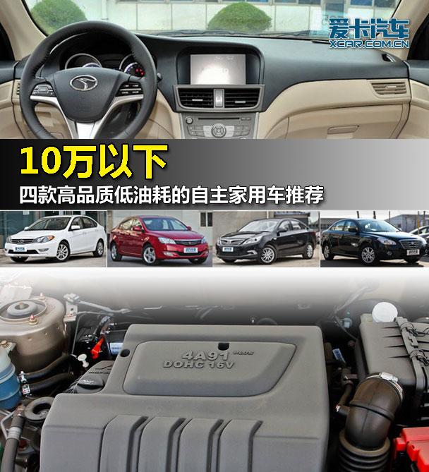 10万元以下 四款高品质低油耗车型推荐
