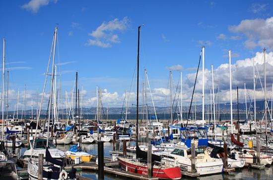 典型的美国海滨城市,到处都是小游艇 摄影:悠悠哉