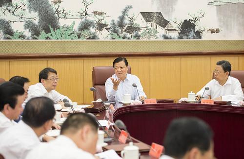 9月13日,中央党的群众路线教育实践活动领导小组在北京召开部分中央督导组工作座谈会。中共中央政治局常委、中央党的群众路线教育实践活动领导小组组长刘云山出席会议并讲话。新华社记者 李学仁 摄