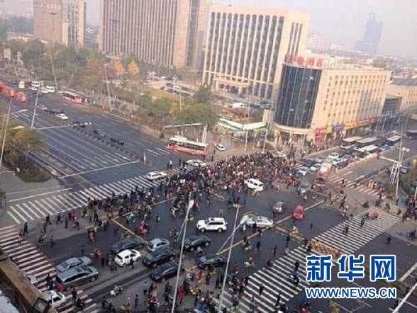 山西省委門口疑似發生連環爆炸