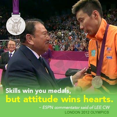 球技让你赢得了奖牌,但态度让你赢得了人心
