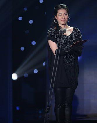 罗雪娟在2009年体坛风云人物颁奖盛典上。