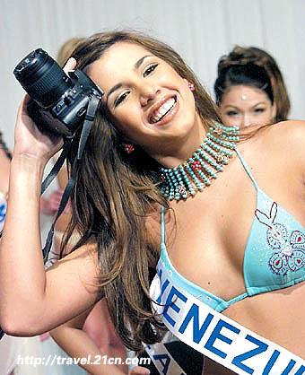 委内瑞拉:每个村都有个美女王(图)