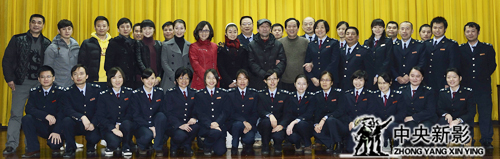 演职员和参演的广西国税局税务干部合影