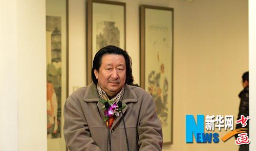 中国国家画院院长杨晓阳在开幕式现场