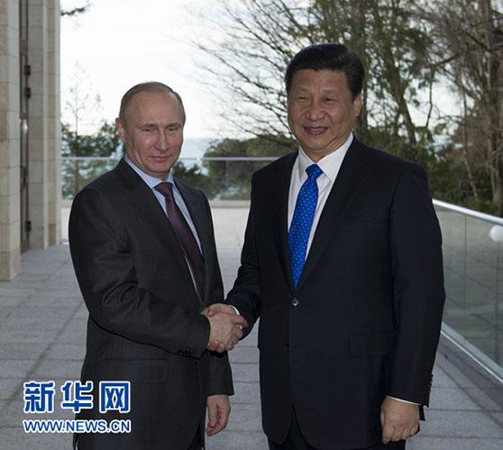 2月6日,国家主席习近平在俄罗斯索契会见俄罗斯总统普京。记者 黄敬文 摄