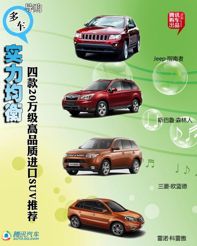 四款20万级高品质进口SUV推荐 实力均衡