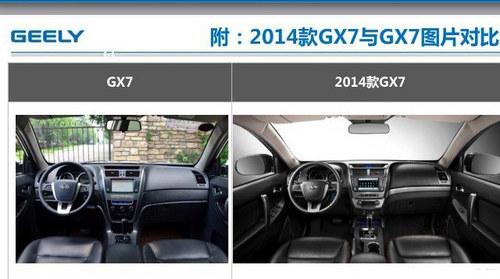 或3月份上市 全球鹰新款GX7内部对比图
