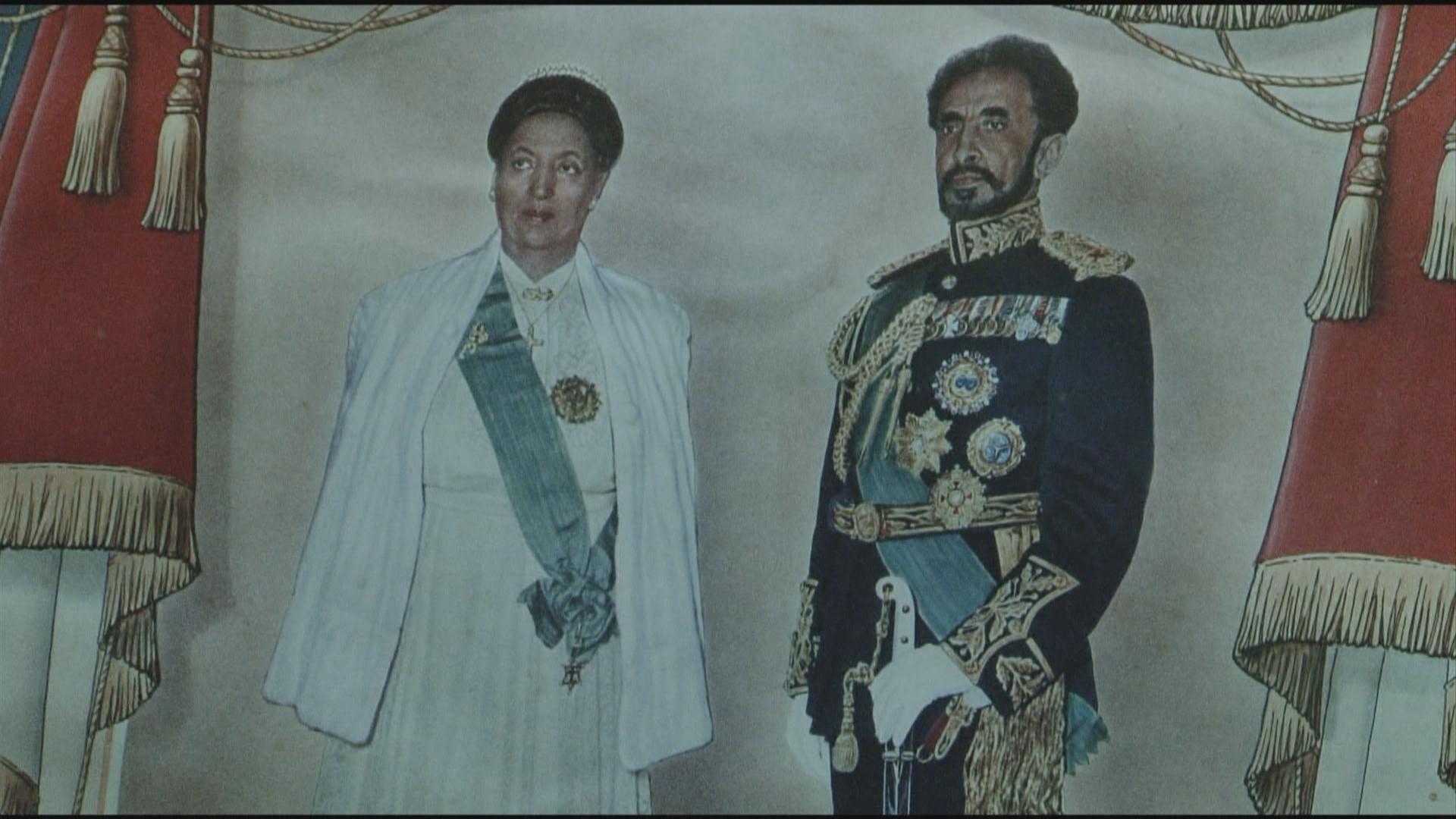 The Emperor with his wife Queen Menen.