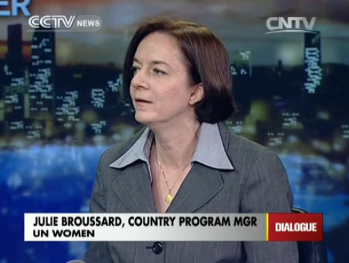 Jullie Broussard, Country Program Manager of UN Women
