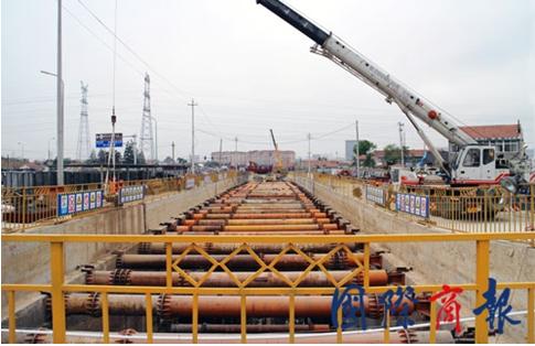 青岛地铁2号线最长的明挖段