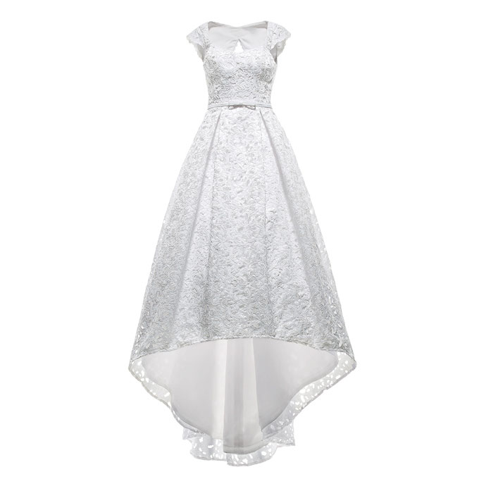 短裙式婚纱手绘图