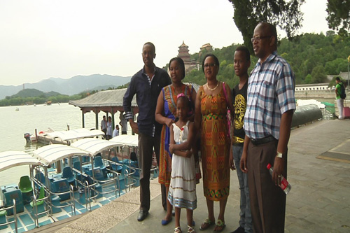 Two Tanzanian families are enjoying a memorable first trip China.
