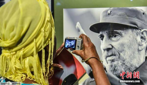 Fidel Castro's birthday was also marked by the opening of a photo exhibition which drew crowds of both young and old alike, including some who'd fought beside him during the revolution.