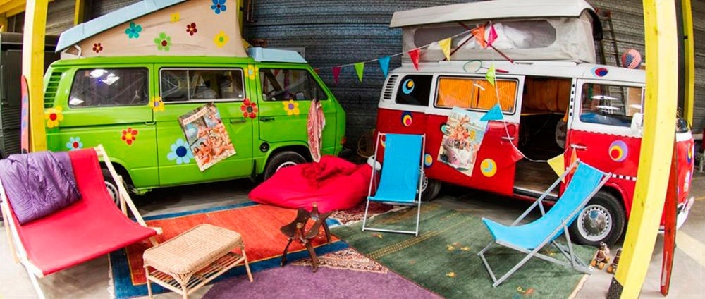 BaseCamp in Bonn has an array of vintage caravans, campervans and railway carriages, but there