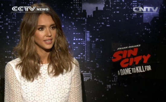 """Jessica Alba, Actress, """"Sin City: A Dame to Kill For""""."""