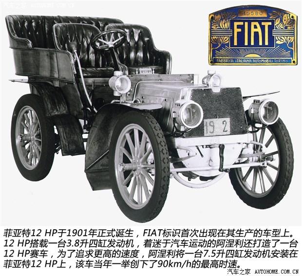 """1901年,""""fiat""""标识首次出现在菲亚特生产的车型上,fiat取自高清图片"""