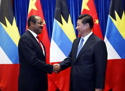 Chinese President Xi Jinping has met with visiting Antigua and Barbuda Prime Minister, Gaston Browne in Beijing on boosting ties between the two countries.